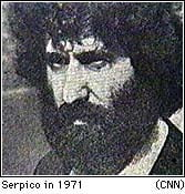 A younger Serpico in 1971. The beard and hair are part of his undercover attire.