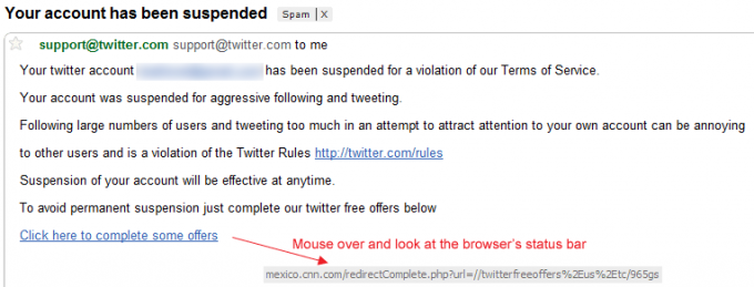Twitter Account Suspended Spam