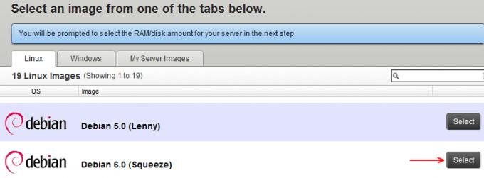 Rackspace Cloud Server - Debian Server