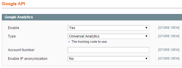 Magento Google Universal Analytics Tracking Code