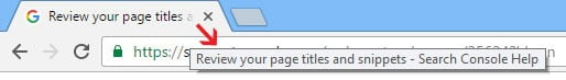 SEO Page Title in Browser Window